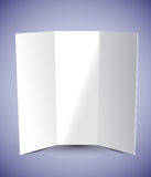Tri Fold Brochure Stock Photo