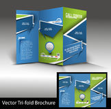 Tri-Fold Call Cente Brochure Royalty Free Stock Photos