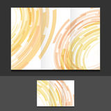 Tri fold color circles illustration design Royalty Free Stock Image