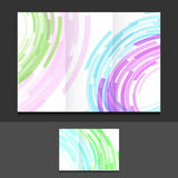 Tri fold color circles illustration design Royalty Free Stock Images