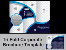 Tri Fold corporate brohure Royalty Free Stock Photography