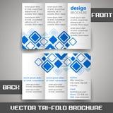 Tri fold corporate business store brochure Stock Photo