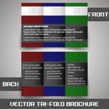 Tri fold corporate business store brochure Stock Photos