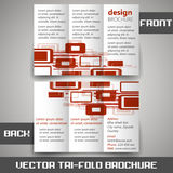 Tri fold corporate business store brochure Stock Image