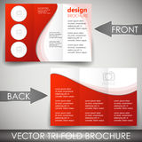 Tri-fold corporate business store brochure Stock Photography