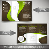 Tri-fold corporate business store brochure Royalty Free Stock Image
