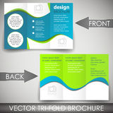 Tri-fold corporate business store brochure Royalty Free Stock Photography