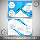 Tri-fold corporate business store brochure - template Stock Image
