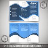 Tri-fold corporate business store brochure - template Royalty Free Stock Photography
