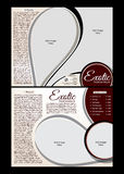 Tri fold Exotic Parlor Brochure Template. Vector illustration Royalty Free Stock Photo