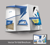 Tri-fold Fashion Brochure Design Royalty Free Stock Images