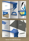 Tri-fold Fashion Brochure Design Stock Photos