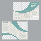 Tri-fold flyer brochure design template Royalty Free Stock Photo