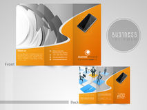 Tri-Fold flyer, template or brochure for business. Stock Photo