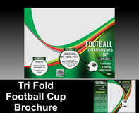 Tri fold football brochure design Royalty Free Stock Image