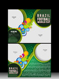 Tri Fold Football Cup Brochure Template Royalty Free Stock Image