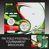 Tri Fold Football Tournament Brochure royalty free illustration