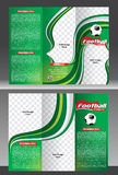 Tri fold football tournament brochure template Stock Images