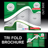 Tri Fold Global Business Brochure Stock Photos