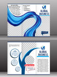 Tri fold global business brochure Royalty Free Stock Image