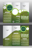 Tri fold global protection brochure Stock Images