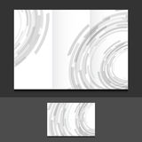 Tri fold grey circles illustration design Stock Images