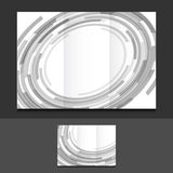 Tri fold grey circles illustration design Stock Photo
