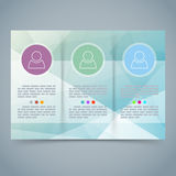 Tri-fold modern brochure booklet template Royalty Free Stock Photos