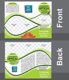 Tri fold optical shop brochure design template Stock Photography
