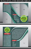 Tri Fold Optical Store Brochure Template Stock Images