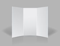 Tri fold presentation blank leaflet Royalty Free Stock Photography