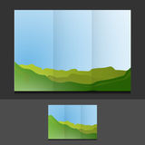 Tri fold summer landscape template Royalty Free Stock Image