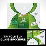 Tri Fold Sun Glass Brochure Stock Photos
