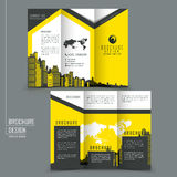 Tri-fold template brochure for business advertising Royalty Free Stock Photo