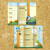 Tri-fold template brochure for environmental concept Royalty Free Stock Images