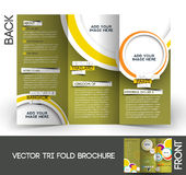 Tri-Fold Travel Brochure. Tri-Fold Travel Mock up & Brochure Design Royalty Free Stock Photos
