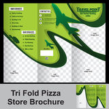 Tri fold trevel store brochure Royalty Free Stock Photos