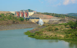 Tri An hydropower plants in Vietnam Stock Images