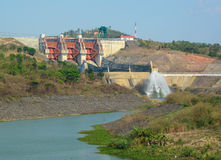 Tri An hydropower plants in Vietnam Royalty Free Stock Photography