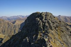 Tri Kopy Peak in Western Tatras Royalty Free Stock Photo