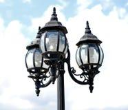 Tri-lichte lamppost Stock Foto