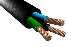 Tri-rated cable (3D) Stock Image