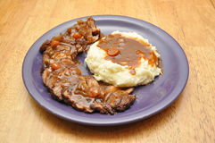 Tri Tip and Mashed Potatoes Royalty Free Stock Images