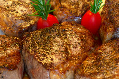 Tri tip steaks freshly cooked Royalty Free Stock Images