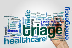 Triage word cloud Stock Image