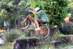 Trial bike Stock Photography