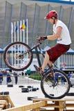 Trial biker Stock Photos