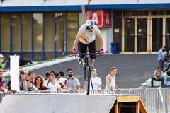 Trial biker Royalty Free Stock Photo