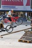 Trial biker Royalty Free Stock Image