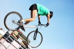 Trial biker at Trial Jam Event Stock Image